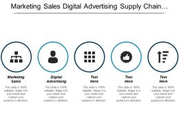 Marketing Sales Digital Advertising Supply Chain Management Strategy Development Cpb