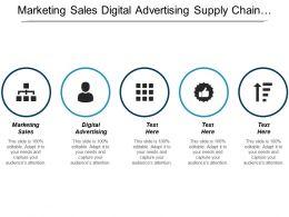 Marketing Sales Digital Advertising Supply Chain Management Strategy Development Cpb