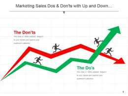 Marketing Sales Dos And Donts With Up And Down Graph Success And Failure Ppt Icon