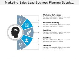 Marketing Sales Lead Business Planning Supply Chain Management Cpb