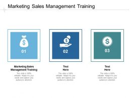 Marketing Sales Management Training Ppt Powerpoint Presentation Slides Visual Cpb