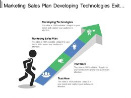 Marketing Sales Plan Developing Technologies Exit Strategy Sales Forecasting Cpb