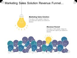 Marketing Sales Solution Revenue Funnel Finance Shared Service Delivery Cpb