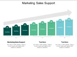 Marketing Sales Support Ppt Powerpoint Presentation Outline Slides Cpb