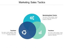 Marketing Sales Tactics Ppt Powerpoint Presentation Icon Model Cpb