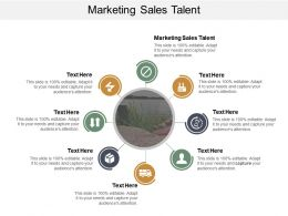 Marketing Sales Talent Ppt Powerpoint Presentation Icon Vector Cpb