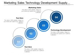 Marketing Sales Technology Development Supply Chain Development Management