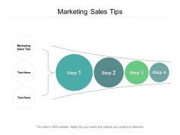 Marketing Sales Tips Ppt Powerpoint Presentation Model Background Designs Cpb