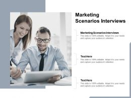 Marketing Scenarios Interviews Ppt Powerpoint Presentation Guidelines Cpb