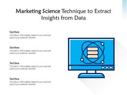 Marketing Science Technique To Extract Insights From Data