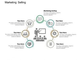 Marketing Selling Ppt Powerpoint Presentation Gallery Templates Cpb