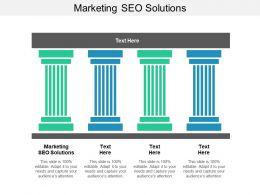 Marketing SEO Solutions Ppt Powerpoint Presentation Slides Design Ideas Cpb