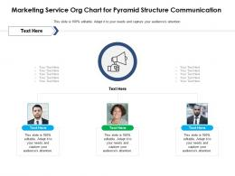 Marketing Service Org Chart For Pyramid Structure Communication Infographic Template