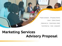 Marketing Services Advisory Proposal Powerpoint Presentation Slides