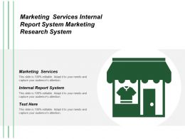 Marketing Services Internal Report System Marketing Research System