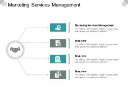 Marketing Services Management Ppt Powerpoint Presentation Styles Elements Cpb