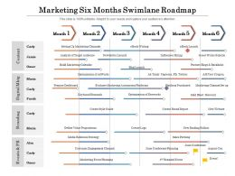 Marketing Six Months Swimlane Roadmap