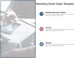 Marketing Smart Goals Template Ppt Powerpoint Presentation Infographics Cpb