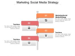 Marketing Social Media Strategy Ppt Powerpoint Presentation Ideas Mockup Cpb