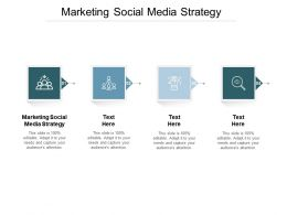 Marketing Social Media Strategy Ppt Powerpoint Presentation Outline Show Cpb
