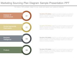 Marketing Sourcing Plan Diagram Sample Presentation Ppt