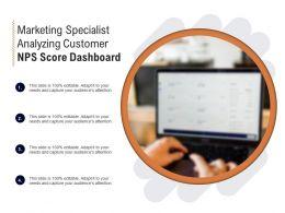 Marketing Specialist Analyzing Customer NPS Score Dashboard