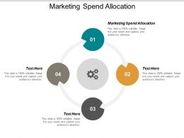 Marketing Spend Allocation Ppt Powerpoint Presentation Styles Grid Cpb