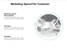 Marketing Spend Per Customer Ppt Powerpoint Presentation Professional Samples Cpb