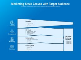 Marketing Stack Canvas With Target Audience