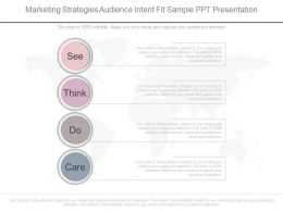 Marketing Strategies Audience Intent Fit Sample Ppt Presentation