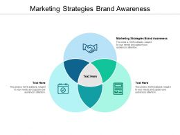Marketing Strategies Brand Awareness Ppt Powerpoint Presentation Infographics Designs Cpb