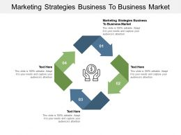 Marketing Strategies Business To Business Market Ppt Powerpoint Presentation File Example File Cpb