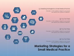 Marketing Strategies For A Small Medical Practice Ppt Powerpoint Presentation Portfolio