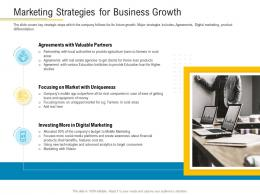 Marketing Strategies For Business Growth Financial Market Pitch Deck Ppt Template
