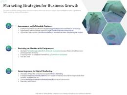 Marketing Strategies For Business Growth Investment Pitch Raise Funds Financial Market Ppt Gallery