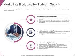 Marketing Strategies For Business Growth Pitch Deck For After Market Investment Ppt Rules