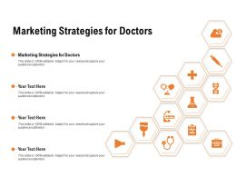 Marketing Strategies For Doctors Ppt Powerpoint Presentation Show Model