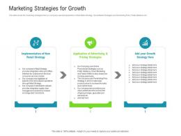 Marketing Strategies For Growth Raise Funded Debt Banking Institutions Ppt Infographics