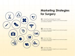 Marketing Strategies For Surgery Ppt Powerpoint Presentation Summary Show