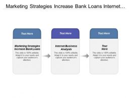 Marketing Strategies Increase Bank Loans Internet Business Analysis Cpb