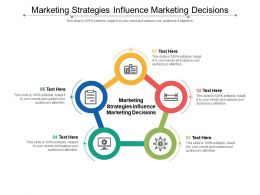 Marketing Strategies Influence Marketing Decisions Ppt Powerpoint Presentation Pictures Elements Cpb