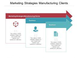Marketing Strategies Manufacturing Clients Ppt Powerpoint Presentation Styles Portfolio Cpb
