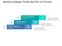 Marketing Strategies Parallel Step Plan For Promotion Gggg