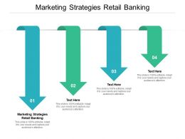 Marketing Strategies Retail Banking Ppt Powerpoint Presentation Pictures Design Ideas Cpb