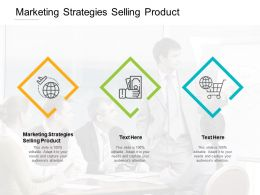 Marketing Strategies Selling Product Ppt Powerpoint Presentation Inspiration File Formats Cpb