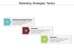 Marketing Strategies Tactics Ppt Powerpoint Presentation Gallery Outline Cpb