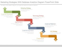 Marketing Strategies With Database Analytics Diagram Powerpoint Slide