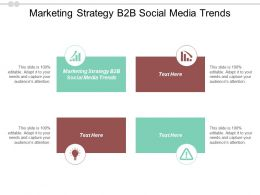 Marketing Strategy B2B Social Media Trends Ppt Powerpoint Presentation Pictures Graphics Tutorials Cpb