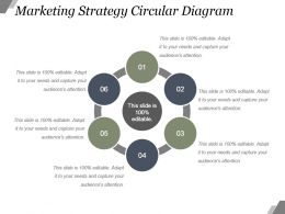 Marketing Strategy Circular Diagram Powerpoint Slide Clipart