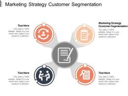 Marketing Strategy Customer Segmentation Ppt Powerpoint Presentation Portfolio Example Topics Cpb